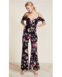 Nicholas | Lucile Floral Double Frill Jumpsuit | Lyst