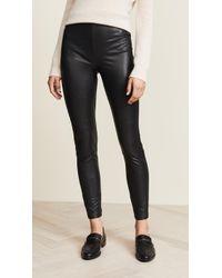 Lyst Spanx Petite Faux Leather Leggings In Black