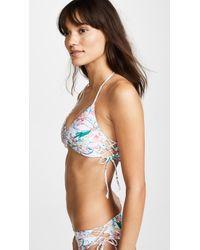 L*Space - Gwen Paisley Perfect Bikini Top - Lyst