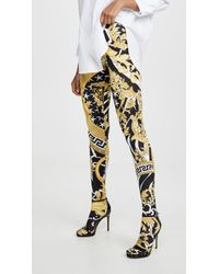 Versace - Patterned Leggings - Lyst