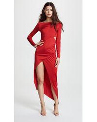 Michelle Mason - Boat Neck Wrap Dress - Lyst