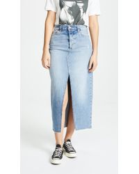 Joe's Jeans - Elliza Long Denim Skirt - Lyst