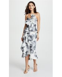 Marchesa - Taffeta Cocktail Dress - Lyst
