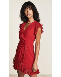 JILL Jill Stuart - Ruffle Trim Dress - Lyst
