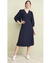 5e35be38 Ganni Clark Maxi Dress in Black - Lyst