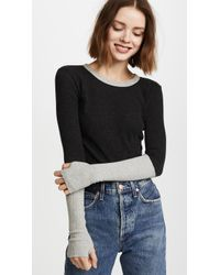 Enza Costa - Cuffed Crew Neck Top - Lyst