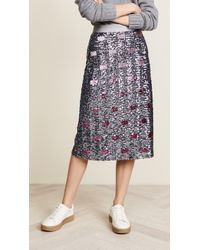 COACH - Long Sequin Embellished Skirt - Lyst