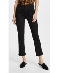 Mother The Insider Crop Jeans - Black