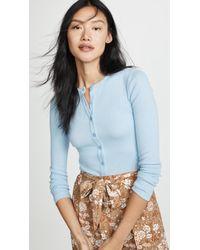 Fleur du Mal - Henley Long Sleeve Bodysuit - Lyst 64cecf165