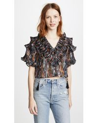 Opening Ceremony | Marble Ruffle Blouse | Lyst