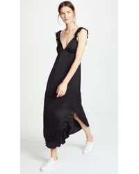 7 For All Mankind - Ruffled Slip Dress - Lyst