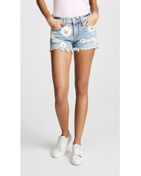 7 For All Mankind | Cutoff Shorts With Daisies | Lyst