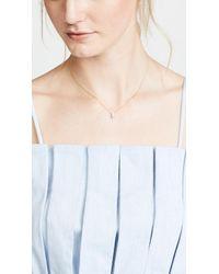 Paige Novick - 18k Necklace With Baguette Gemstone & Pave Diamond Bar - Lyst
