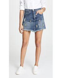 McGuire Denim - Izabel Embroidered High Rise Miniskirt - Lyst
