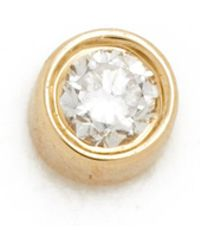 EF Collection - Diamond Bezel Single Stud Earring - Lyst