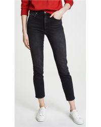 AMO - High Rise Stix Crop Jeans - Lyst