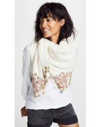 Tory Burch - Hicks Garden Embellished Oversized Square Scarf - Lyst