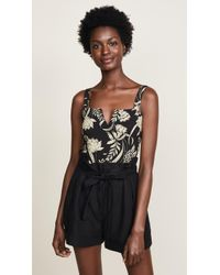 Free People - Pippa V-wire Printed Bodysuit - Lyst