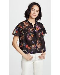 Free People - Sweet Escape Buttondown Blouse - Lyst