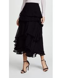 Costarellos - Layered Midi Skirt - Lyst