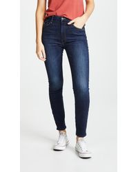 Mother - High Rise Looker Ankle Jeans - Lyst