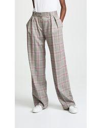 Pallas - Delta Wide Leg Plaid Trousers - Lyst