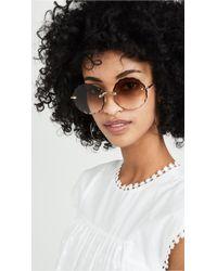 5363287c1d3 Chloé Isidora Aviator Sunglasses in Pink - Lyst