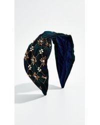 NAMJOSH - Blue Plaid Embellished Headband - Lyst