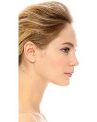 Adina Reyter Opal & Diamond Hexagon Post Earrings - Metallic