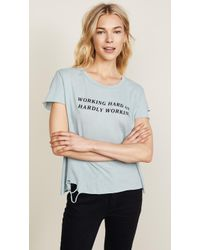 Wildfox | Hardly Working Tee | Lyst