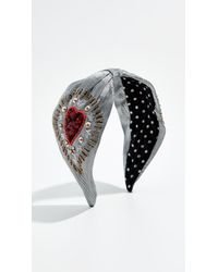 NAMJOSH - Silver Embroidered Headband - Lyst