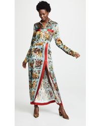 F.R.S For Restless Sleepers - Printed Satin Shirt Dress - Lyst