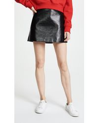 Courreges - Vinyl Mini Skirt - Lyst