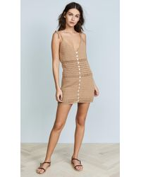 She Made Me - Sita Cotton Crochet Mini Dress - Lyst
