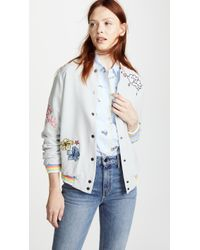 Mira Mikati - Lost Boy Embroidered Bomber Jacket - Lyst