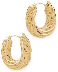 Soave Oro - Flat Twisted Earrings - Lyst
