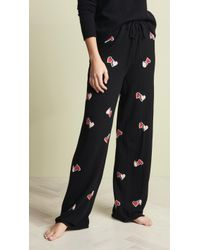 Chinti & Parker - Cashmere Twin Heart Pj Bottoms - Lyst