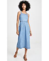 Madewell Juliet Apron Dress - Blue