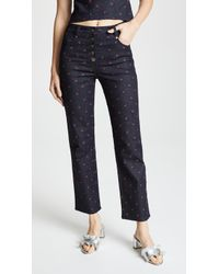 Miaou - Junior Embroidered Jeans - Lyst