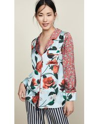 90ac7571e6901 Lyst - Alice + Olivia Keir Sequin Pajama Top