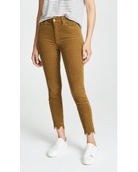 Mother - High Waisted Looker Ankle Chew Trousers - Lyst