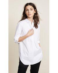 Ayr - Easy Half Placket Shirt - Lyst