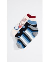 Kate Spade - Howdy No Show Socks 3pack - Lyst