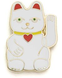 Georgia Perry - Lucky Cat Pin - Lyst