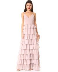 Monique Lhuillier Bridesmaids | Tiered Dress | Lyst