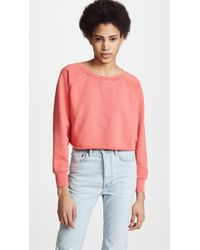 FRAME - Gusset Cropped Long Sleeve Top - Lyst