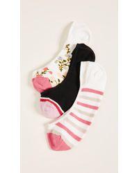 Kate Spade - Mini Bloom Liner Sock 3 Pack - Lyst