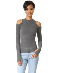 Getting Back to Square One - The Cold Shoulder Sweater - Lyst