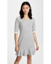 Three Dots - Flounce Sweatshirt Dress - Lyst