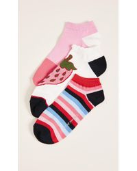 Kate Spade - 3 Pack Of Strawberry Socks - Lyst